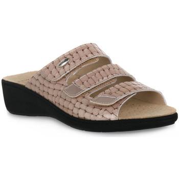 Schoenen Dames Leren slippers Grunland TAUPE 68ESTA Marrone