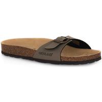 Schoenen Dames Leren slippers Grunland TORTORA 40SARA Beige
