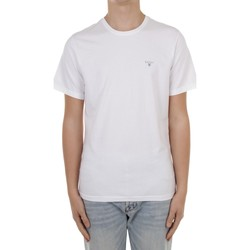 Textiel Heren T-shirts korte mouwen Barbour MTS0670 White