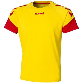 Textiel Heren T-shirts korte mouwen Hummel  Geel