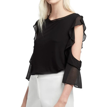 Textiel Dames Tops / Blousjes French Connection  Zwart