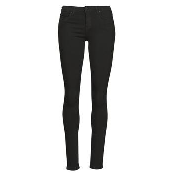 Textiel Dames Skinny jeans Only ONLCARMEN Zwart
