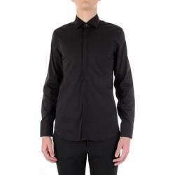 Textiel Heren Overhemden lange mouwen Manuel Ritz 3030E651-213229 Nero