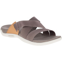 Schoenen Dames Leren slippers Merrell District Maya Slide Women Braun