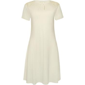 Textiel Dames Pyjama's / nachthemden Lisca Harvest  nachthemd met korte mouwen Geel
