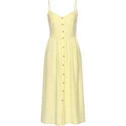 Textiel Dames Korte jurken Lascana Lange zomerjurk Leinen geel Lavendel