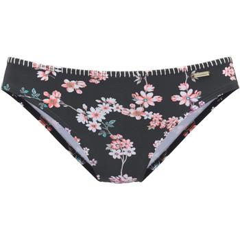 Textiel Dames Bikinibroekjes- en tops Lascana Ditsy  zwembroekje Parelmoer Zwart
