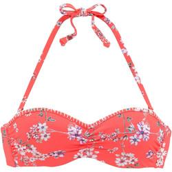 Textiel Dames Bikinibroekjes- en tops Lascana Ditsy  Beugel Bandeau Zwempak Top Oranjeange