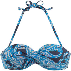 Textiel Dames Bikinibroekjes- en tops Lascana Boho  Bandeau Zwempak Top met Armatuur Ivooranjekleurig