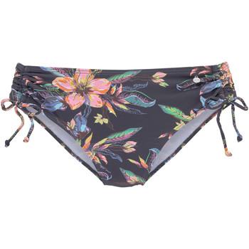 Textiel Dames Bikinibroekjes- en tops Lascana Malia  zwembroekje met boorden aan de zijkanten Ivooranjekleurig