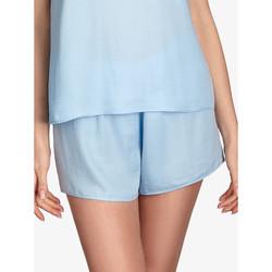 Textiel Dames Pyjama's / nachthemden Ajour Vergeet-Me-Nietje korte pyjamabodems hemelsblauw Blauw Ciel