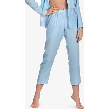 Textiel Dames Pyjama's / nachthemden Ajour 7-8 Vergeet-Me-Niet pyjamabroek hemelsblauw Blauw Ciel