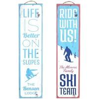 Wonen Schilderijen Signes Grimalt Skiwandplaat Set 2 He Azul
