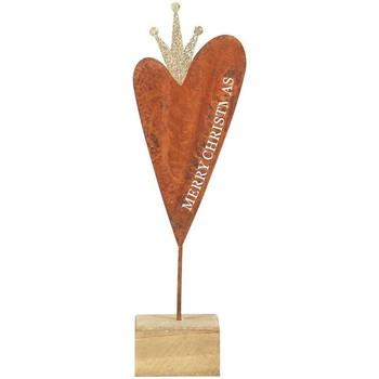 Wonen Kerst decoraties Signes Grimalt Heart Wood Base Small Multicolor
