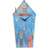 Wonen Klokken Signes Grimalt Huisklok Van Gerecycled Hout Azul