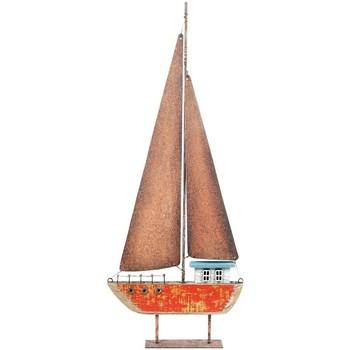 Wonen Beeldjes  Signes Grimalt Gerecycleerd Hout Zeilboot Rojo