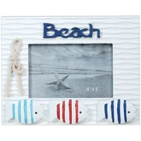 Wonen fotolijsten Signes Grimalt Frame Photo Beach Met Vissen Multicolor
