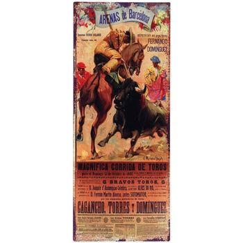 Wonen Schilderijen Signes Grimalt Vierkante Wandplaat Toros Multicolor