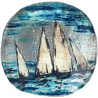 Wonen Schaaltjes en manden Signes Grimalt Ronde Plaat Boten Azul