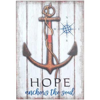 Wonen Schilderijen Signes Grimalt Table Anchor Hope Muur Multicolor