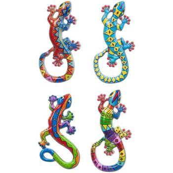 Wonen Beeldjes  Signes Grimalt Magnetische Lagartos 4 Dif. Multicolor