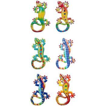 Wonen Beeldjes  Signes Grimalt Magnetische Lagartos 6 Dif. Multicolor