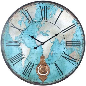 Wonen Klokken Signes Grimalt Wereld Wandklok Azul