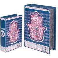 Wonen Trunks, opbergdozen Signes Grimalt Fatima 2U Dozen Hand Book Azul