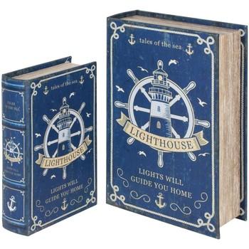 Wonen Trunks, opbergdozen Signes Grimalt Roerboekenboxen Set 2U Azul