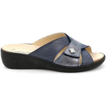Schoenen Dames Leren slippers Grunland CE0700 Blauw