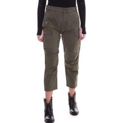 Textiel Dames Broeken / Pantalons Fornarina BE171L90G29231 Groen