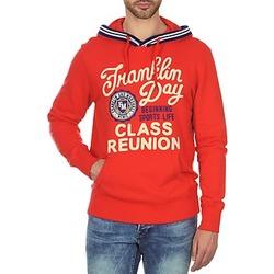 Textiel Heren Sweaters / Sweatshirts Franklin & Marshall GOSFORD Rood