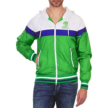 Textiel Heren Wind jackets Franklin & Marshall MELBOURNE Groen / Wit / Blauw