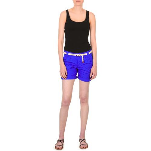 Textiel Dames Korte broeken / Bermuda's Franklin & Marshall CALOUNDRA Blauw