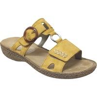 Schoenen Dames Leren slippers Rieker 658n4 Geel