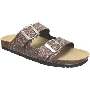 Schoenen Dames Leren slippers Pepe jeans Oban mesh Rose metaal