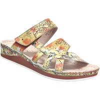 Schoenen Dames Leren slippers Laura Vita Brcuelo 0521 Geel leer