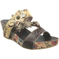 Schoenen Dames Leren slippers Laura Vita Facdiao 0621 Meerkleurig leer bruin