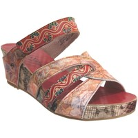Schoenen Dames Leren slippers Laura Vita Facdiao 14 Meerkleurig rood