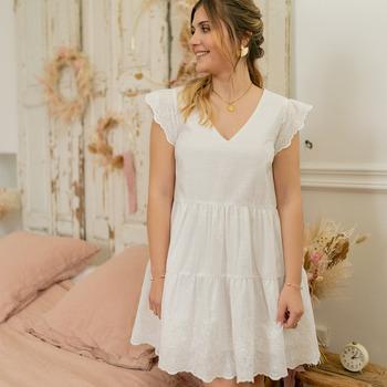 Textiel Dames Korte jurken Céleste DAHLIA Wit