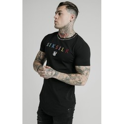 Textiel Heren T-shirts korte mouwen Siksilk Curved Hem Colours Gym Tee 16662 Zwart