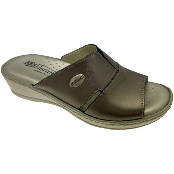 Schoenen Dames Leren slippers Florance FL22505bro tortora