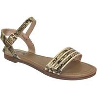 Schoenen Dames Sandalen / Open schoenen Elue par nous Jebel Zwart / goud