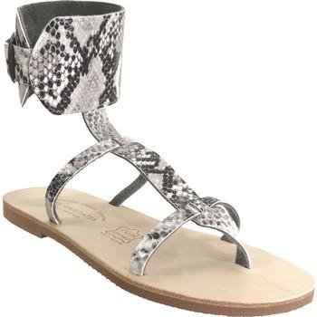 Schoenen Dames Sandalen / Open schoenen Les Spartiates Phoceennes Alicia Zwart / grijs leer