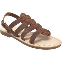Schoenen Heren Sandalen / Open schoenen Les Spartiates Phoceennes Ali Bruin leer