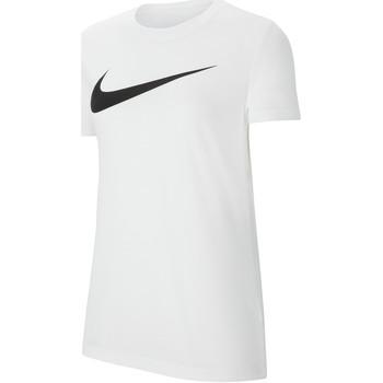 Textiel Dames T-shirts korte mouwen Nike Dri-FIT Park 20 HBR SS Tee Women Weiss
