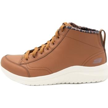 Schoenen Dames Hoge sneakers Skechers Ultra Flex 2.0 Plush Zone Bruin