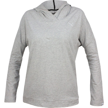 Textiel Dames Sweaters / Sweatshirts Puma Ess Hooded Cover Up W Grijs
