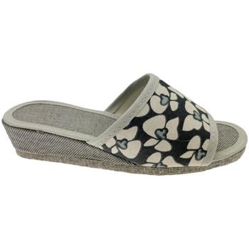 Schoenen Dames Leren slippers Cristina CIABFELTROnero nero