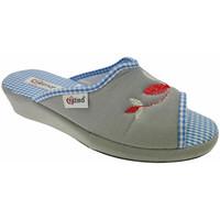 Schoenen Dames Leren slippers Cristina CRI51gri grigio